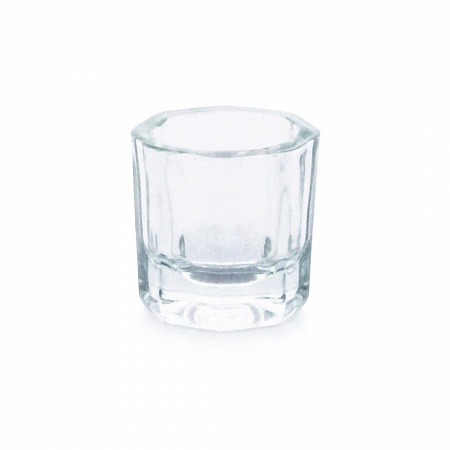Glass cup for mixing