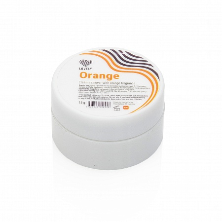 Cream-remover Lovely with the aroma of orange, 15g